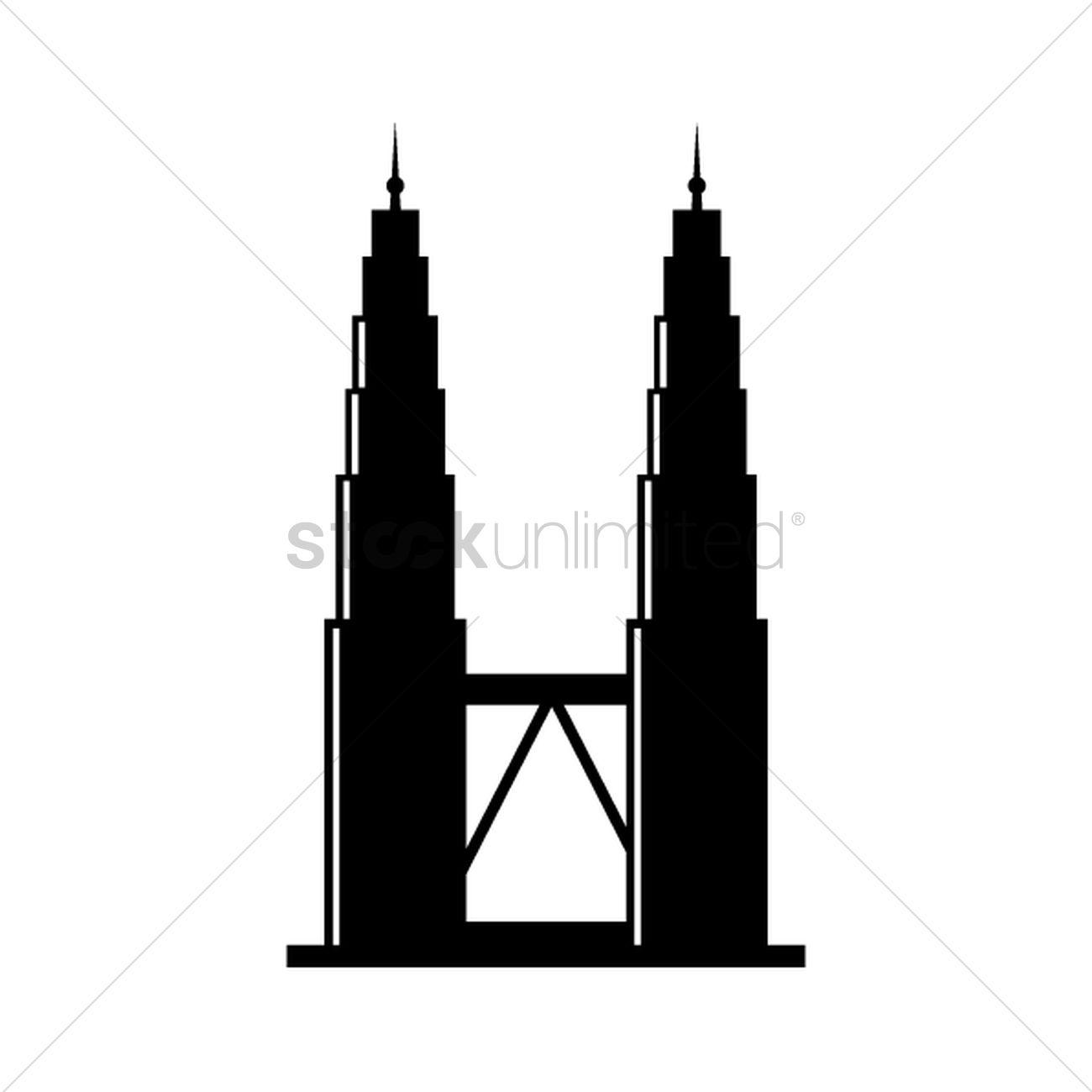 1300x1300 Free Petronas Tower Vector Image