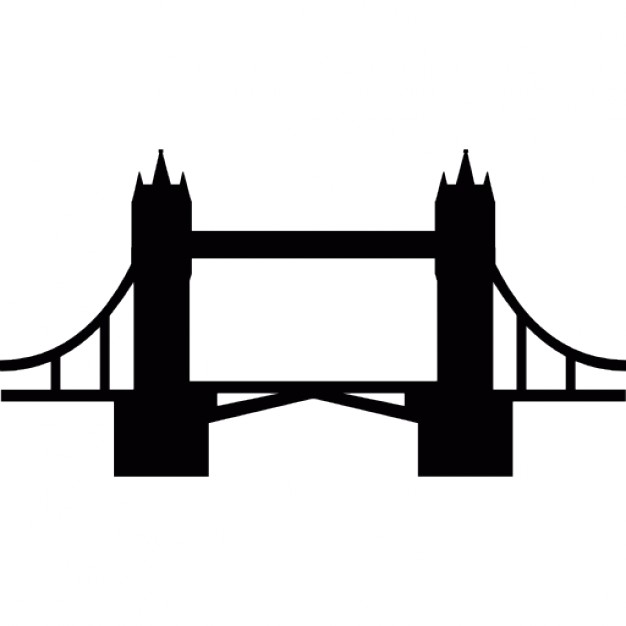 626x626 Tower Bridge Clipart Silhouette