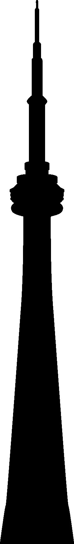 238x1751 Cn Tower Vector Silhouette By Syaofkanada