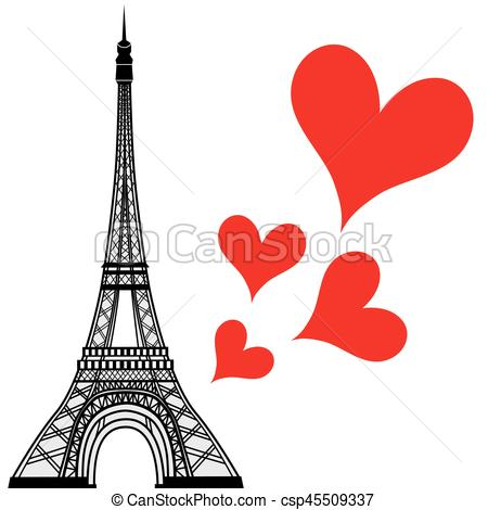 450x470 Eiffel Tower Clipart Love Silhouette Many Interesting Cliparts