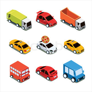 320x320 Transport Set Of Cute Urban Cars Silhouette Stock Vector Colourbox