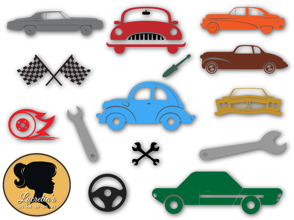 1024x768 Vintage Cars Svg, Cars Silhouette, Flag Race, Mechanical Tools Svg