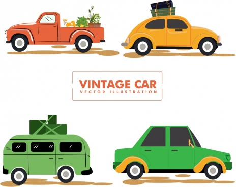 464x368 Vintage Car Vector Free Vector Download (8,440 Free Vector)