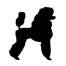 270x270 Poodle Silhouette 02 Stencil Free Stencil Gallery