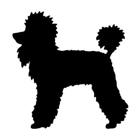 480x480 Poodle Silhouette Car Decal Furbabie Central
