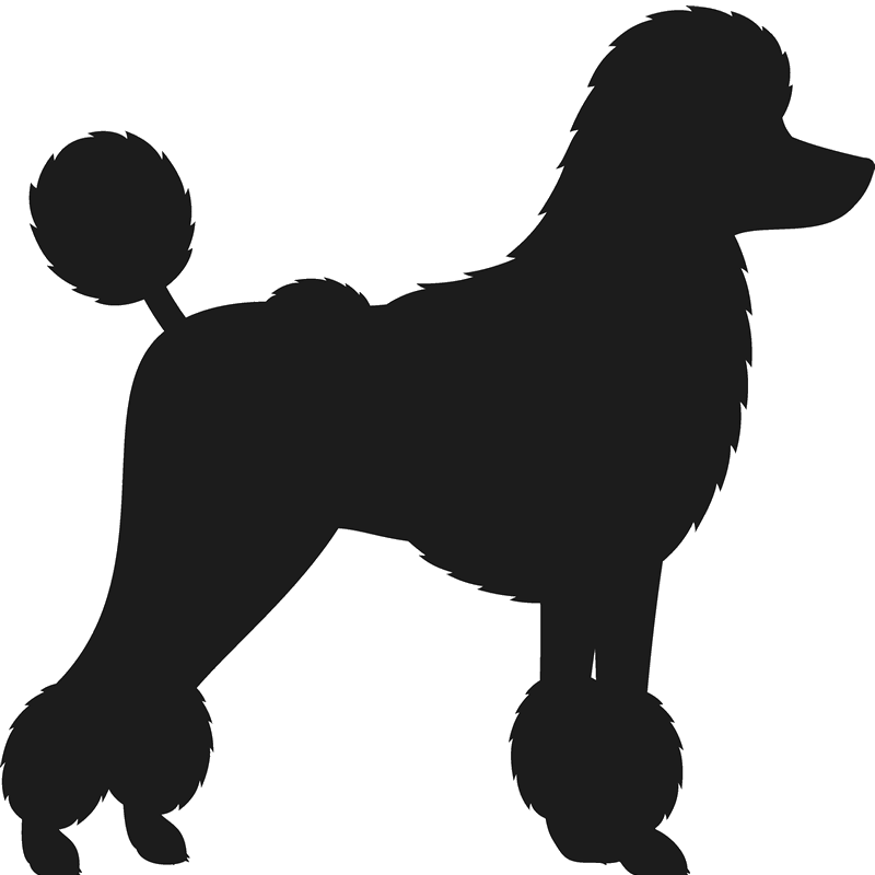 800x800 Poodle Stamp (Silhouette) Dog, Cat Amp Fur Baby Stamps Stamptopia