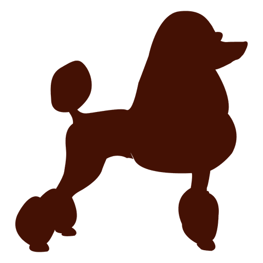 512x512 Poodle Dog Silhouette