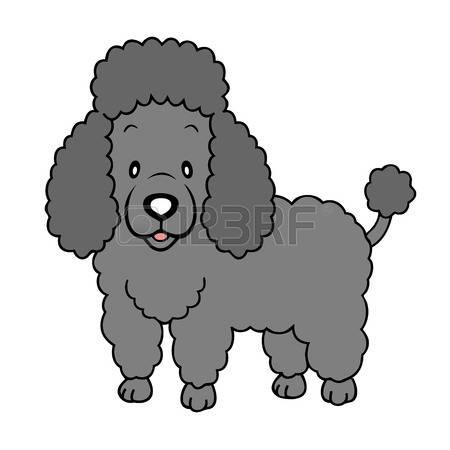 450x450 Black Poodle Clipart