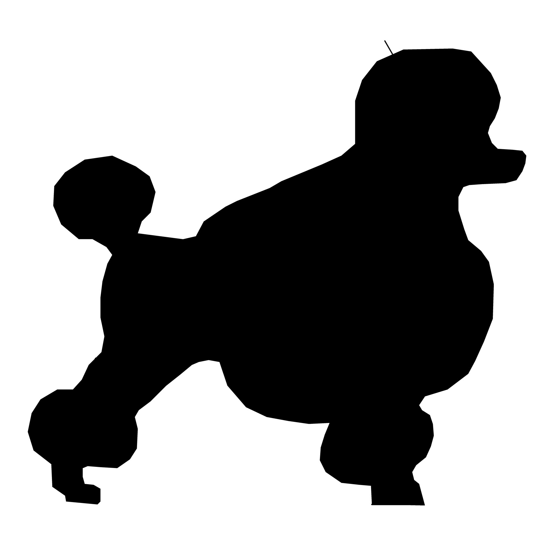 1920x1920 Dog Silhouette Drawing 07 Free Stock Photo