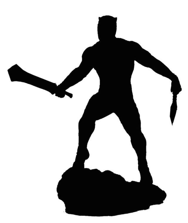 640x760 Marvel Gallery Killmonger Statue Silhouette