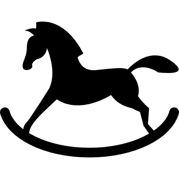 626x626 Rocker Horse Silhouette Icons Free Download