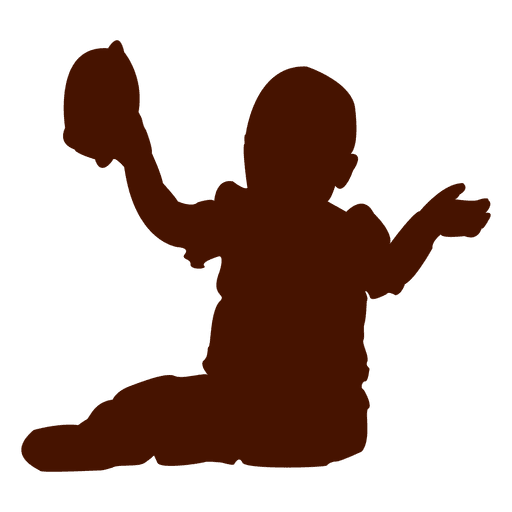 512x512 Baby Sitting And Playing With Toy Silhouette