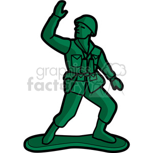 300x300 Royalty Free Toy Army Soldier Illustration Graphic 398045 Vector