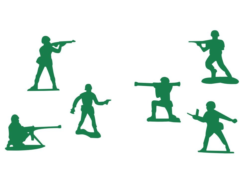 976x717 Set Of 6 Little Green Army Men Toy Soldiers Toy Story Boys Wall