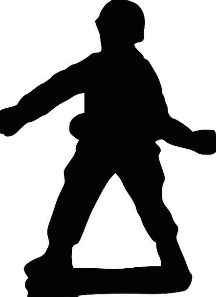 442x609 Soldier, Fighter, Throw, Toss, Grenade, Silhouette, Outline