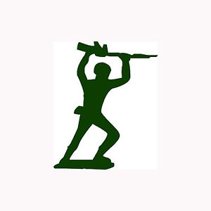 300x300 Toy Soldier Sticker Cute Vinyl Decal Military Plastic Retro Guns