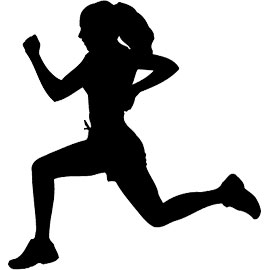 270x270 Girls Running Track Clipart Collection