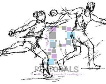 340x270 Track Amp Field Silhouettes Set 2 Male And Female Track
