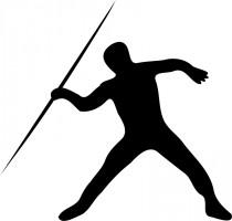 210x200 Javelin Throw Silhouette Track And Field Javelin