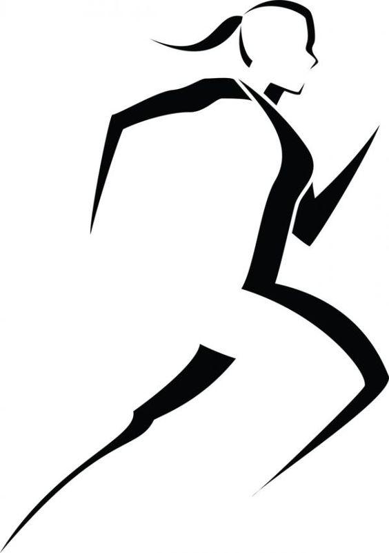 564x801 Runner Silhouette Clip Art Logo Clip Art Runner Things