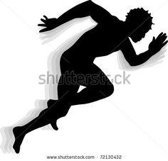 236x227 Side Profile Of Boy Track Runner Ready For Race Start Silhouette