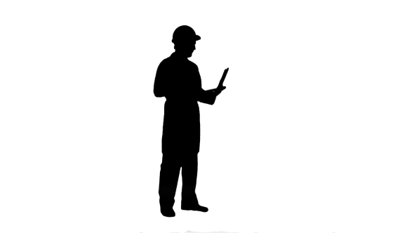 590x332 Silhouette Construction Engineer Videoconferencing With Laptop