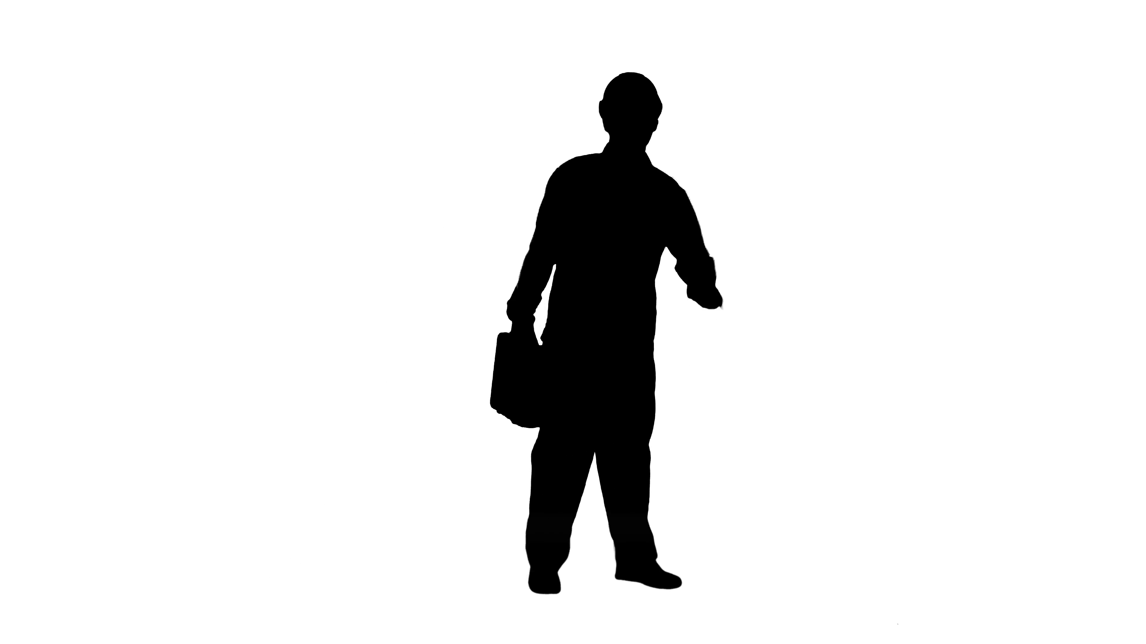 3840x2160 Silhouette Construction Engineer With Tablet And Drawing In Hands