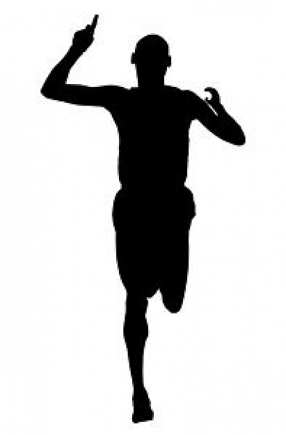 411x626 Runners Silhouette Clipart