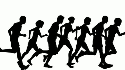 400x224 People Running Clipart Clipartlook