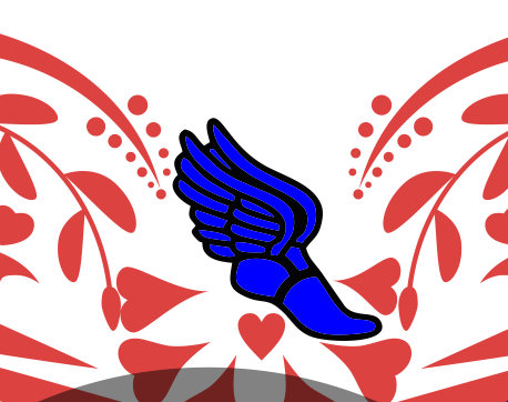 458x362 Track Heart Svg File, Track And Field Svg, Dxf For Silhouette