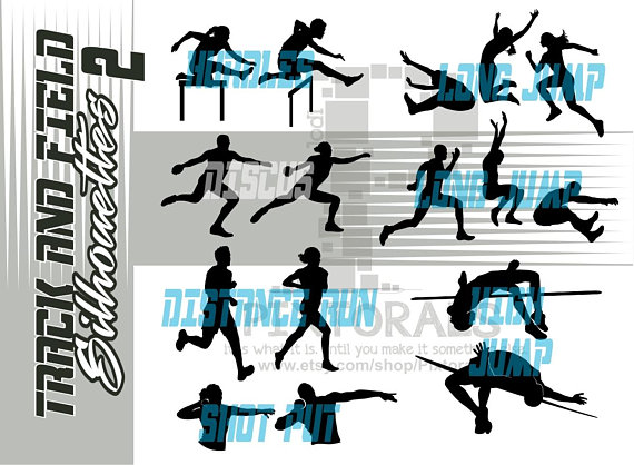 570x418 Track Amp Field Silhouettes Set 2 Male And Female Track