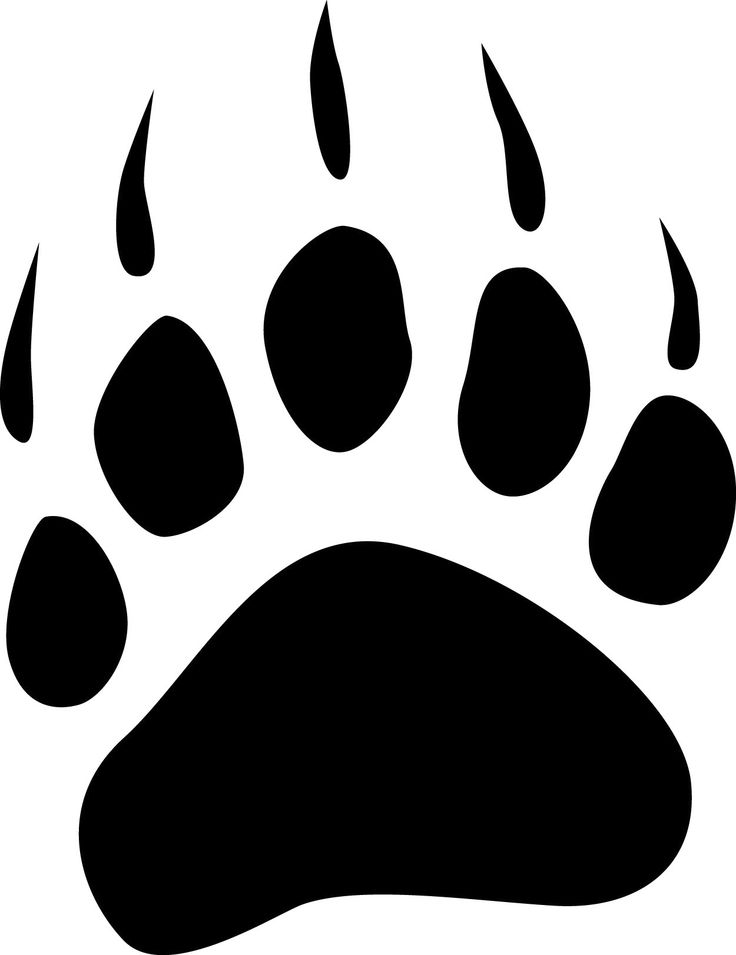 track silhouette clip art at getdrawings com free for personal use rh getdrawings com bear claw clipart bear claw clipart