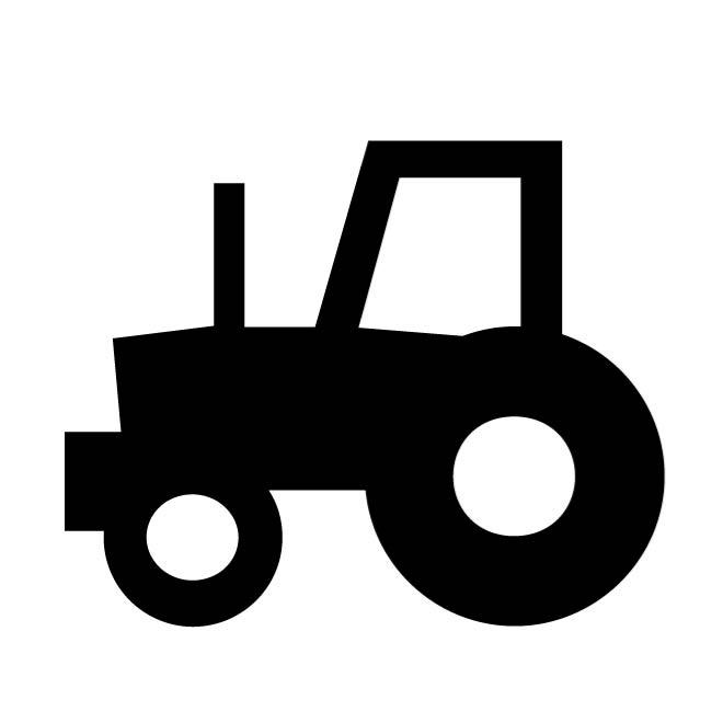 660x660 Tractor Silhouette