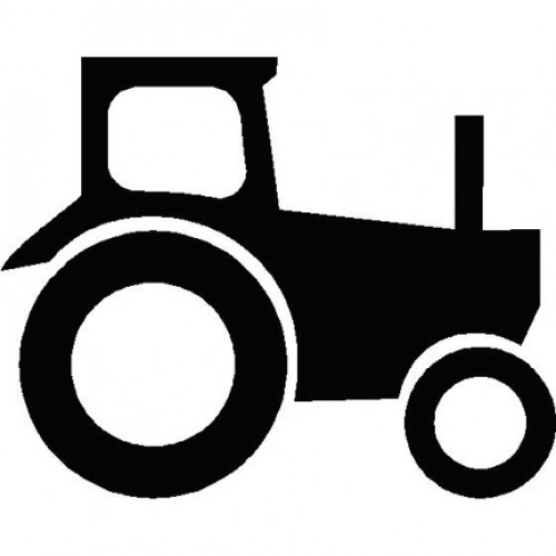 500x500 Tractor Silhouette
