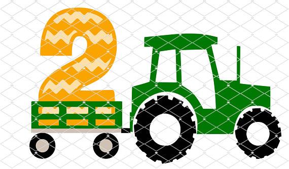 570x334 Tractor Wagon 2 Silhouette Cricut Cut File Svg Design