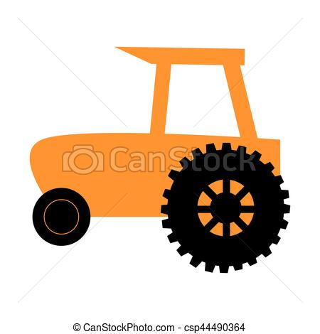 450x470 Silhouette Countryside Tractor For Building Vector Clip Art