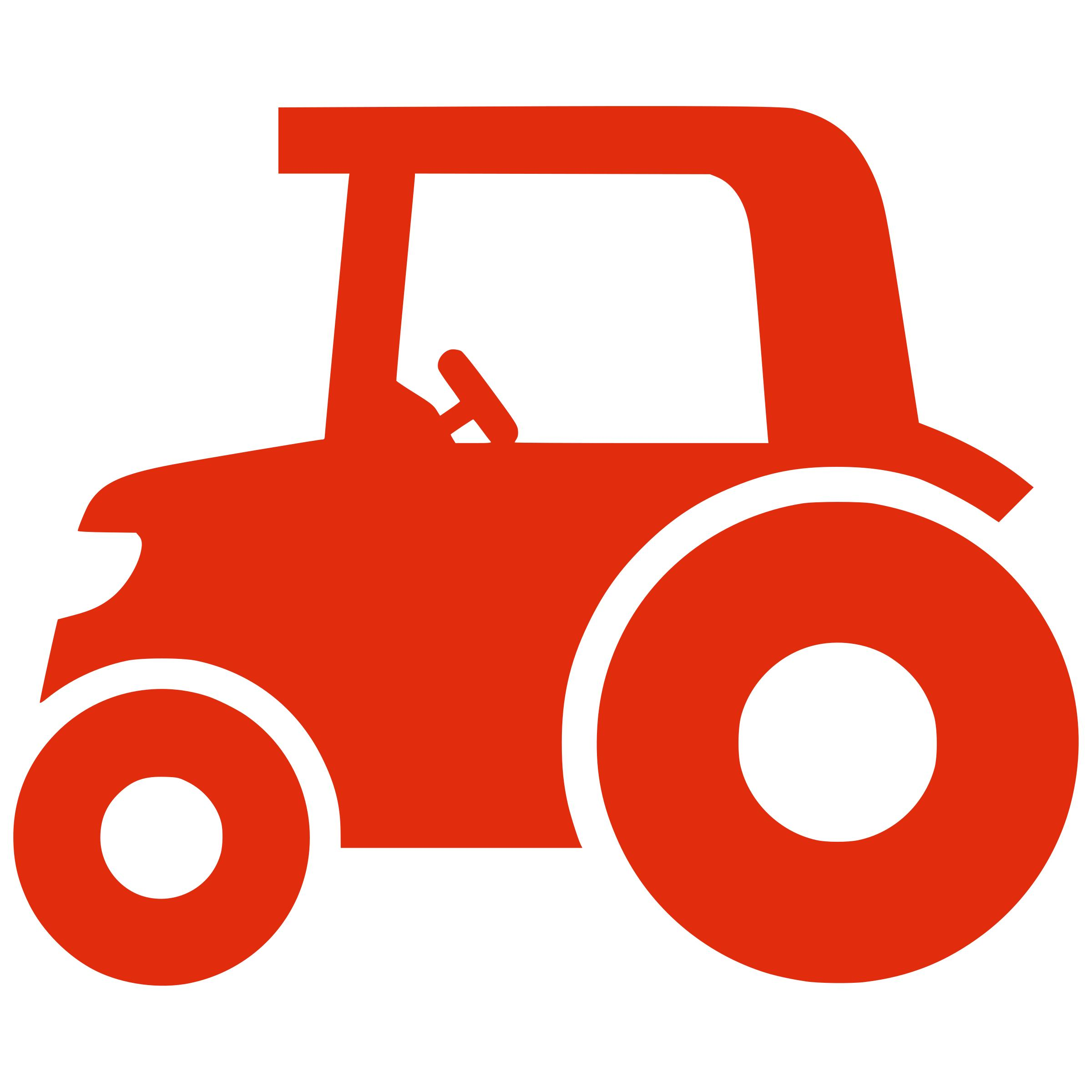 2400x2400 Silhouette Tractor Icons Png