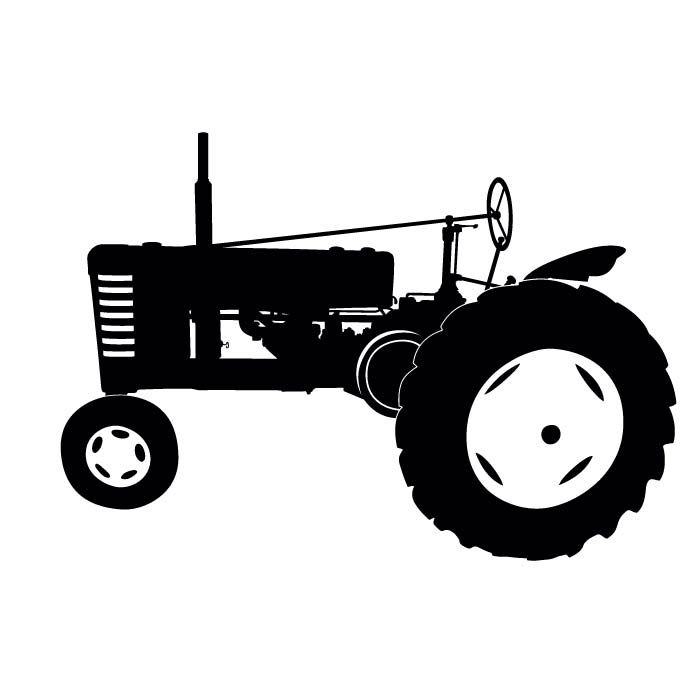 700x700 Tractor Decal Silhouette Tractor, Cricut