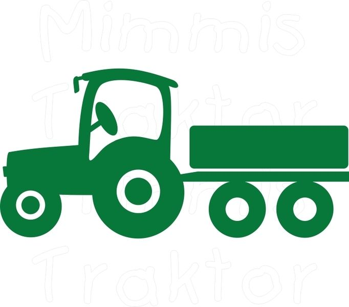 682x600 Wandtattoo Traktor 28 Cm Ca. A4 Tractor