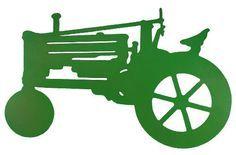 236x155 John Deere Tractor Silhouette