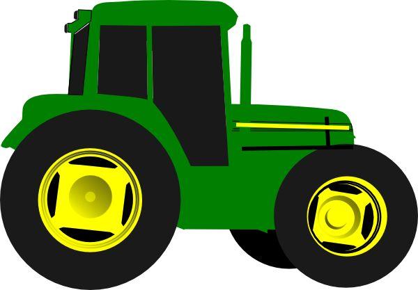 600x417 John Deere Tractor Silhouette Clip Art Clipart