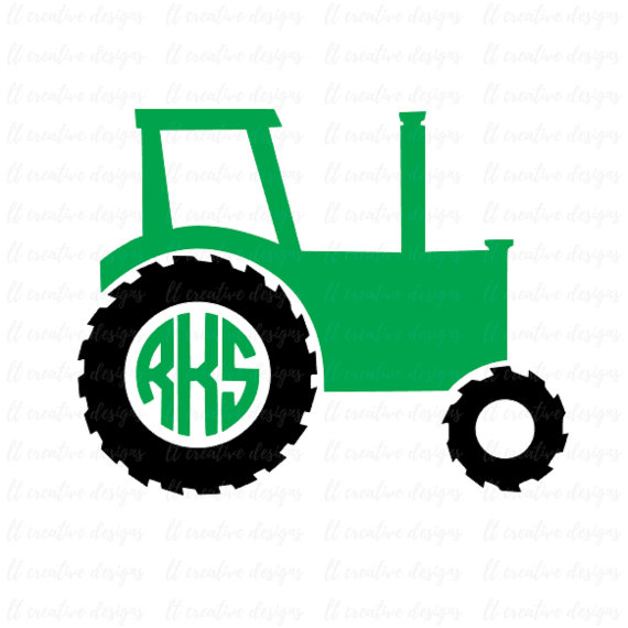 570x570 Tractor SVG, Tractor Monogram SVG, SVG Files, Cricut Cut Files