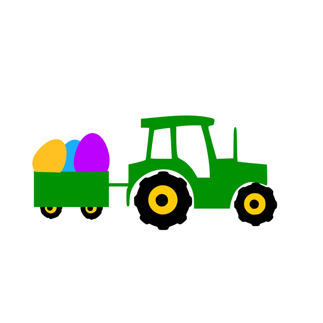 1050x1050 Tractor svg easter tractor svg egg in trailer svg Easter