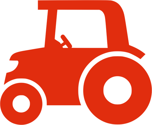 500x413 Red silhouette vector image of a tractor Public domain vectors