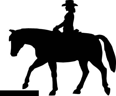 400x330 Horse Decals Trail Rider