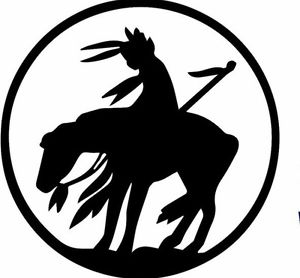 300x278 End Of The Trail American Indian Native Horse Decal Sticker 5x 5
