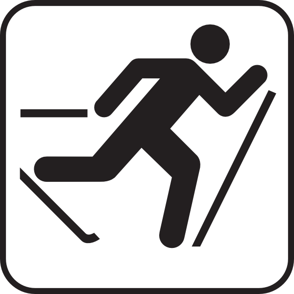 600x600 Cross Country Skii Trail White Clip Art