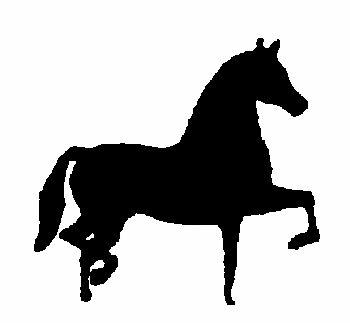 350x323 Morgan Horse Magnetic Automotive Amp Horse Trailer Silhouette