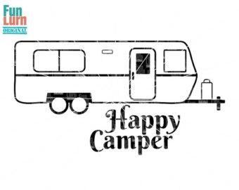 340x270 Camper Svg Clipart Scrapbook Travel Trailer Caravan Cricut
