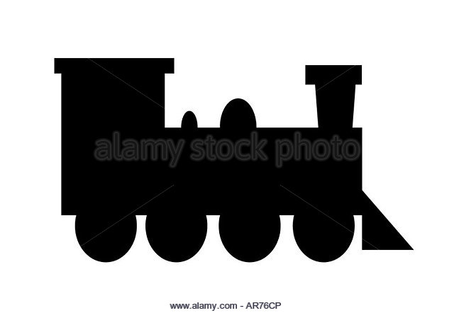 640x442 Train Engine Silhouette